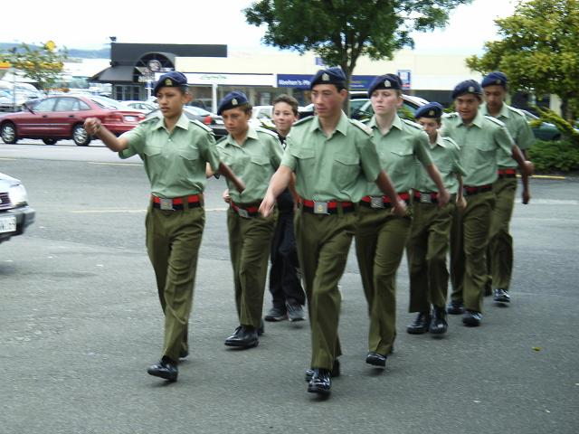 Amy in her Uniform Marching as Part of the NZ Army Cadets She is the 2 ...